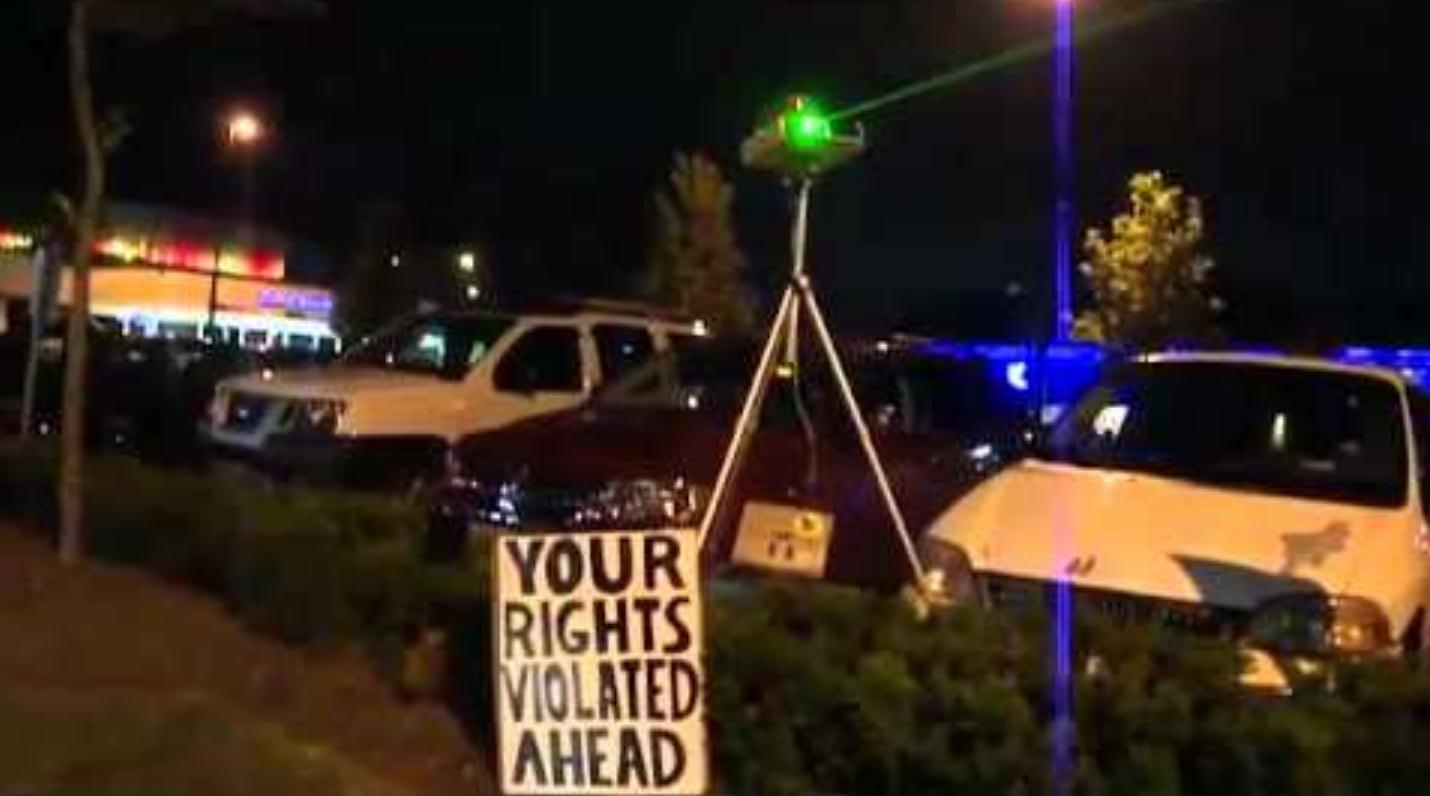 Green Beam Laser Activism Manchester
