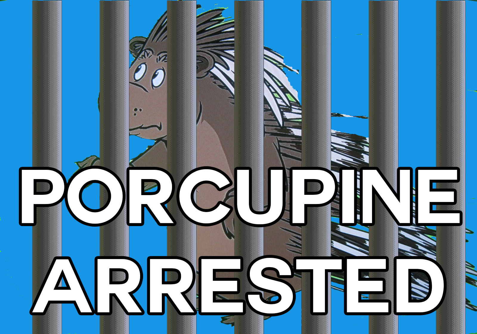 Porcupine-Arrested